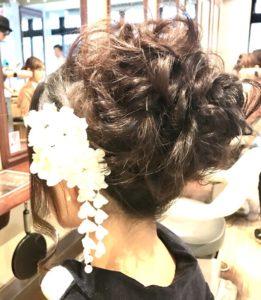 ヘアセット アップスタイル まとめ髪 成人式